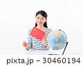 女性 地球儀 中国 30460194