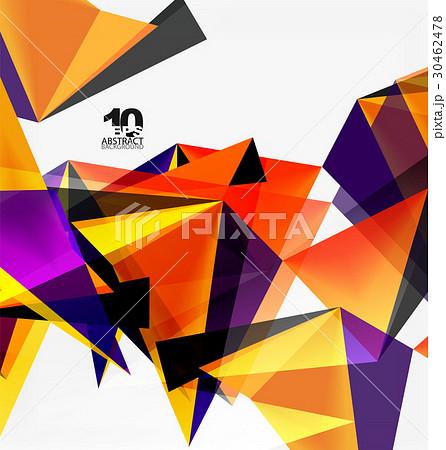 3d triangles geometric vector 30462478