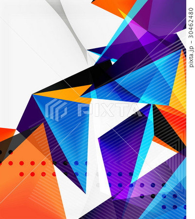 3d triangles geometric vector 30462480