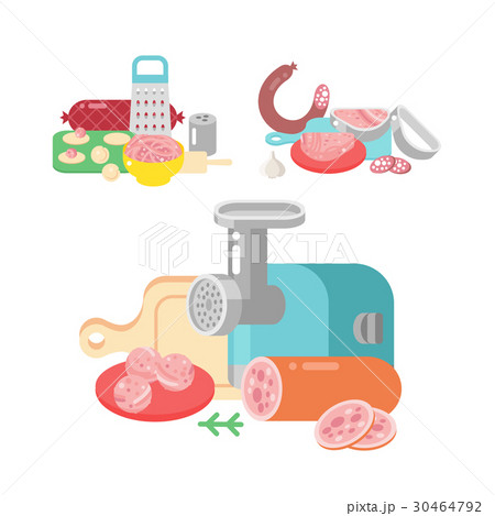 Meat products ingredient and rustic elements 30464792
