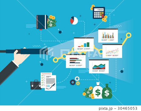 Business prediction and vision concept. 30465053