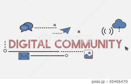 Digital Community Interaction Online Communication Stay Connected Interactive 30466470