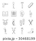 Orthopedics prosthetics icons set, outline style 30468199