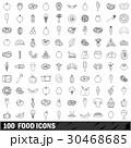 100 100 食のイラスト 30468685