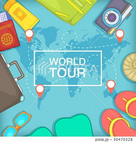 Sea rest concept world tour, cartoon styleのイラスト素材 [30470328] - PIXTA