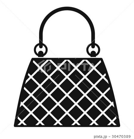 Beautiful bag icon, simple styleのイラスト素材 [30470389] - PIXTA