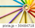 えんぴつ 円 カラフルの写真 30484718