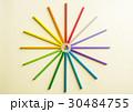 えんぴつ カラフル 多彩の写真 30484755