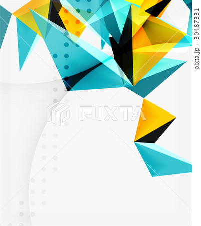 3d triangles geometric vector 30487331