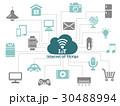 iot インターネット ネットワークのイラスト 30488994
