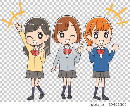 高中生 高中女生 制服 30491303