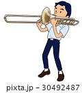 トロンボーンを吹く男子 30492487