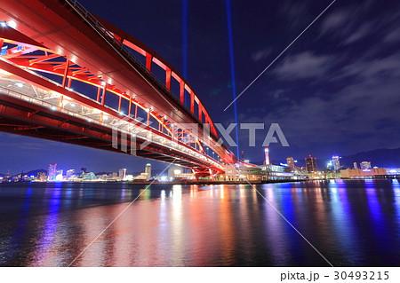 神戸大橋の夜景 30493215