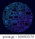 円 概念 ガジェットのイラスト 30493570