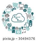 IOT インターネット ネットワークのイラスト 30494376