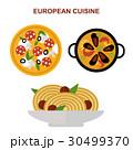 ベクトル ヨーロッパ人 食のイラスト 30499370