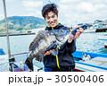 海釣り 釣り人 男性の写真 30500406