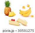 Set of different fruit and desert. 30501275
