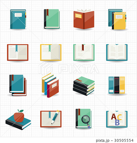 Books icons and library icons 30505554