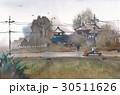里 農家 田畑のイラスト 30511626