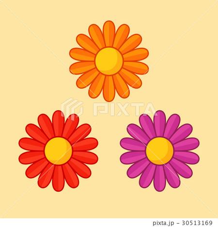 Orange, Red and Violet Flowerのイラスト素材 [30513169] - PIXTA