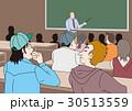 人物イラスト、授業風景 30513559