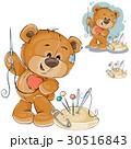 ベクトル クマのぬいぐるみ テディベアのイラスト 30516843