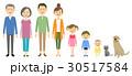 家族 三世代 三世代家族のイラスト 30517584