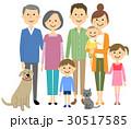家族 三世代 三世代家族のイラスト 30517585