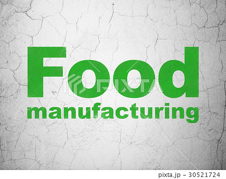 Industry concept: Food Manufacturing on wall 30521724