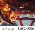 bright orange rope strangely intertwined 30524550