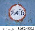 Painted texture with number on metal door 30524558
