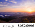 箱根連山から昇る太陽 30526996