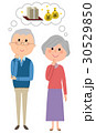 老夫婦 カップル シニアのイラスト 30529850