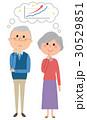 老夫婦 カップル シニアのイラスト 30529851