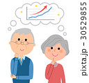 老夫婦 シニア 右肩上がりのイラスト 30529855