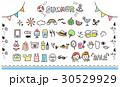 ガーリーな手描きアイコンセット 夏(カラフル) 30529929