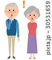 夫婦 老夫婦 シニアのイラスト 30531659