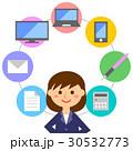 仕事 女性 ビジネスのイラスト 30532773