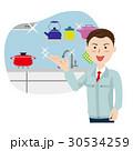 キッチン リフォーム 男性のイラスト 30534259