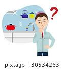 キッチン リフォーム 男性のイラスト 30534263