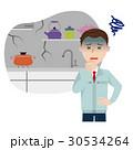 キッチン リフォーム 男性のイラスト 30534264