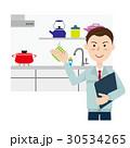 キッチン リフォーム 作業員のイラスト 30534265