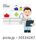 キッチン リフォーム 男性のイラスト 30534267