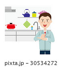 キッチン リフォーム 男性のイラスト 30534272