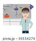 キッチン リフォーム 作業員のイラスト 30534274