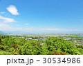 岐阜県 青空と新緑の風景 30534986