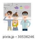 キッチン リフォーム 家族のイラスト 30536246