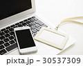 IDカード ノートパソコン パソコンの写真 30537309