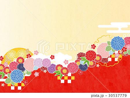 背景素材-和柄イメージ5(鳥なし,テクスチャ) 30537779